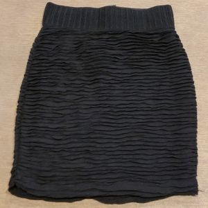 dynamite high waisted skirt with ruching throughou